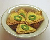 New Item! Pretend Felt Play Food - Nacho Chips - Kid's Play Kitchen Accessory for Imaginative Play