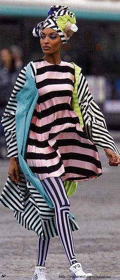 Jourdan Dunn for Antidote. -this is the way to wear stripes!