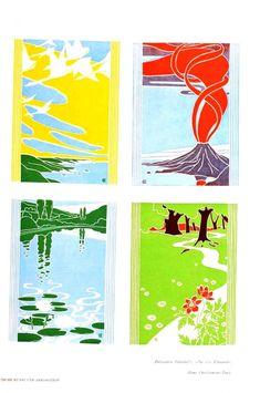 Design - Paper - Decorative design, nouveau panels
