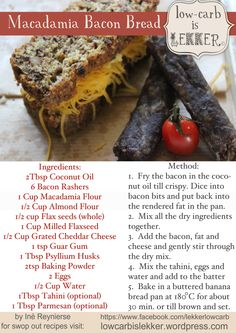 Macadamia Bacon Bread