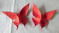 butterfly origami tutorial @ Af 5/1/13