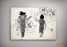 Watercolor Dragon Ball Goku  Print  Archival Print  Art Print  Wall Decor Art…