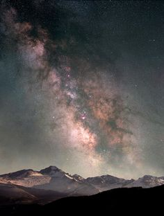 Rocky Mountain National Park, Colorado, USA    Milky Way Over Longs Peak (by gainesp2003)