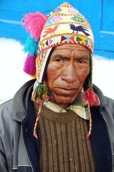 Quechua man, Paucartambo, Peru.