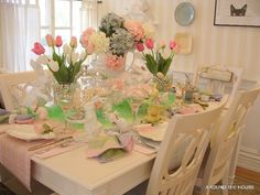 Beautiful Easter Table Scape