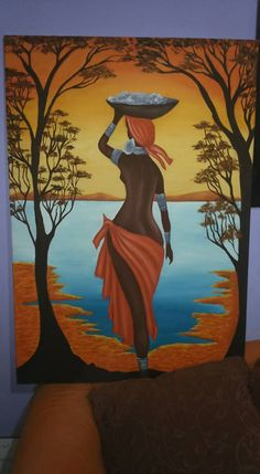 This Pin was discovered by MOM Afrique Art, African Art Paintings, Art Africain, Black Artwork, Afro Art, African American Art, Love Art, Female Art, Art Pictures