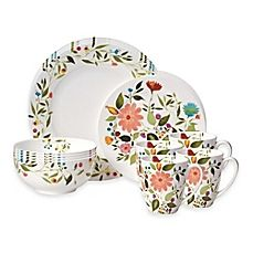 image of Kim Parker Collection Gourmet Basics by Mikasa® Woodland Floral 16-Piece Dinnerware Set