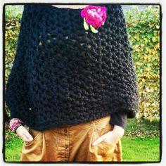 Crochet Adult Hat, Crochet Cape, Crochet Shawl, Knit Crochet, Cape Tutorial, Big Wool, Poncho Shawl, Couture, Crochet Clothes
