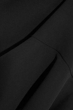 Victoria, Victoria Beckham - Ruffle-trimmed Crepe Mini Dress - Black - UK12