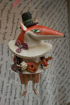 Fox with a mandoline by Elya Yalonetski