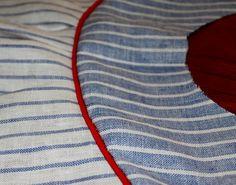 Aventuras de costuras: Como poner Bies con Cordón para principiantes. How to insert piping for beginners