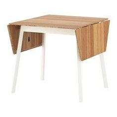 IKEA PS 2012 Drop-leaf table, bamboo, white - IKEA