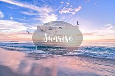 Sunrise Lr Presets by FaeryDesign on Professional Lightroom Presets, Creative Sketches, Paint Markers, Pencil Illustration, Business Card Logo, Watercolor And Ink, Painting & Drawing, Sunrise, Graphic Design