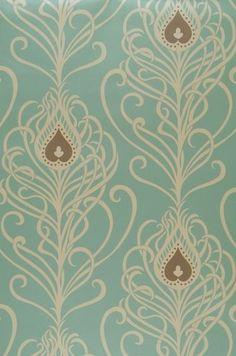 peacock vintage wallpaper
