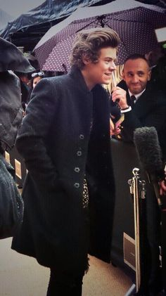 Harry Styles at Burberry Fashion Show LFW