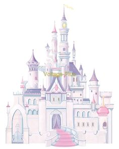 Create a personal palace with Disney Princess Castle Wall Decal! With spires and towers, this Disney Princess Castle Wall Decal brings the magic of Disney to your smooth surfaces. Chateau Princesse Disney, Chateau Disney, Disney Princess Castle, Cinderella Castle, Cinderella Princess, Disney Princess Nursery, Princess Bedrooms, Toddler Princess Room, Princess Mural