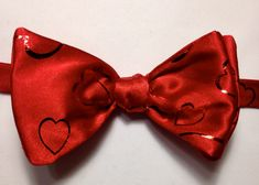 Bow Tie with Hearts by ReiserCreations on Etsy