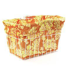 Orange Yellow Hibicus Basket Liner