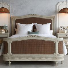 Eloquence Arabella Natural Cane Bed @Layla Grayce #laylagrayce #new #bed