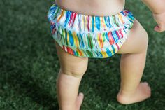 Water fun, here we come! This adorable Honest Swim Diaper can be washed and reused over and over.