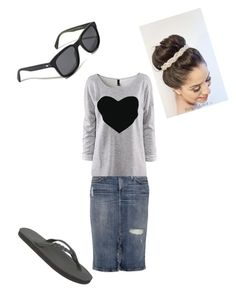 """""""Wednesday night outfit"""" by basketballplayer32 ❤ liked on Polyvore featuring Rainbow, Current/Elliott and Oliver Peoples"""