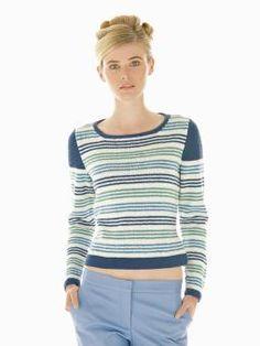 Wharf - Knit this womens striped sweater from Rowan Knitting & Crochet Magazine 55, a design by Gemma Atkinson using the ever popular yarn Wool Cott...