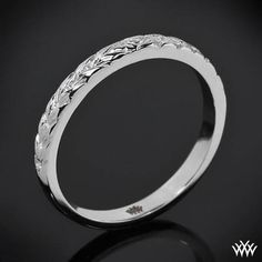 'Engraved Cathedral' Wedding Band | 1461 - $675