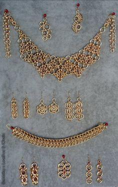 Gold Chainmail Jewelry Display by ~rassaku on deviantART