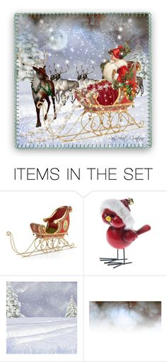"""""""Sleigh Ride"""" by rainheartcreations ❤ liked on Polyvore featuring art"""