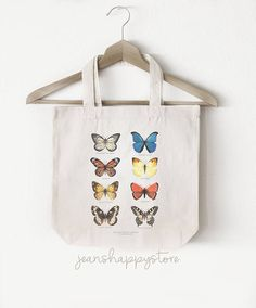 Items similar to 8 Butterfly Species - TOTE BAG; Accessory on Etsy Cotton Bag, Cotton Canvas, Butterfly Species, Great Wedding Gifts, Watercolor Canvas, Butterfly Kisses, Father Of The Bride, Christian Gifts, Shopping Mall