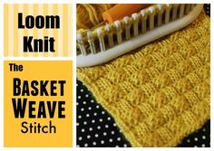 LOOM KNITTING STITCHES : Basket Weave Stitch on a Loom Basketweave Stitch on a Circle or Long loom . Easy to add to any pattern or project. Instructions for Flat panel and in . Loom Knitting Stitches, Spool Knitting, Knifty Knitter, Loom Knitting Projects, Knitting Tutorials, Free Knitting, Loom Blanket, Loom Knitting Blanket, Loom Crochet