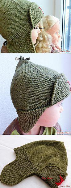 22 Best Ideas for crochet hat baby earflap knitting patterns Kids Knitting Patterns, Knitting For Kids, Baby Knitting, Crochet Patterns, Knitting Projects, Crochet Hat Earflap, Knitted Hats, Crochet Shoes, Knit Crochet
