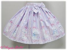 Angelic Pretty Whimsical Vanilla-Chan Skirt [in Lavender]