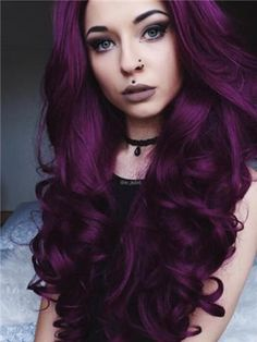 Black Hair Cabello morado oscuro: como tenerlo paso a paso oscuro 【agosto 2019 】 [Ofici. Cabello morado oscuro: como tenerlo paso a paso oscuro 【agosto 2019 】 [Oficial] Synthetic Lace Front Wigs, Synthetic Wigs, Hair Color Purple, Purple Hair Styles, Deep Purple, Purple Wig, Dark Purple Hair Dye, Burgundy Hair Colors, Hair Colours 2018