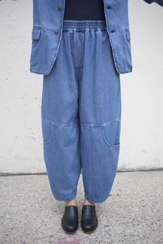 69 Denim Knee Pocket Pants in Medium Wash   Oroboro Store   Brooklyn, New York