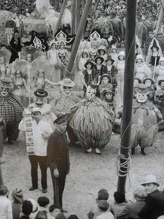 1931 Interior Of Circus Tent Matinee Elephants Performers 1930s vintage photo (1) by Christian Montone, via Flickr