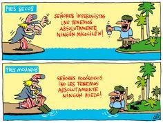 #Cuba: 'Pies secos, pies mojados', visto con #humor por #AlenLauzán