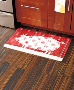 kitchen floor mat polka dot pig novelty cushioned floor mat
