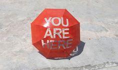 So cute...You Are Here Umbrella