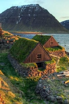 Stone and turf homes in Iceland