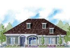 French Country Energy Smart Home Plan - 33055ZR | European, Traditional, Narrow Lot, Net Zero Ready, 1st Floor Master Suite, CAD Available, PDF, Split Bedrooms, Corner Lot | Architectural Designs