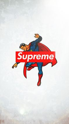 supreme×superman glowing HD wallpaper for iphone