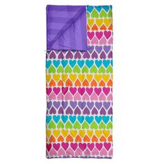 Rainbow Hearts Reversible Sleeping Bag Kitchen & Dining Features New Walmart Deals, Unique Hoodies, Wet T Shirt, Country Shirts, Rainbow Heart, Elite Socks, Sleeping Bag, Summer Shirts, Outdoor Blanket
