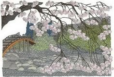 27 machine embroidery designs included in the Blossoms of the Orient machine embroidery set.  $40 stitchingart.com