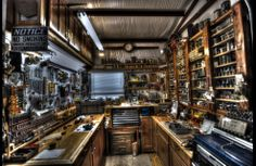 sweet work shop, tool storage, photographer added an hdr effect