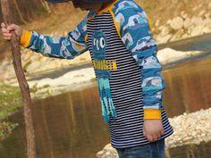 Raglanshirt kids von www.erbsenprinzessin.com genäht von Nordlandwichtel