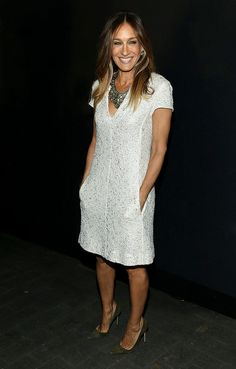 Tendencias 2013 vestidos blanco para el verano - Sarah Jessica Parker