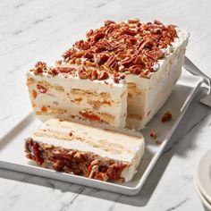 Ice Cream Desserts, No Cook Desserts, Frozen Desserts, Summer Desserts, Frozen Treats, Dessert Recipes, Delicious Desserts, Layered Desserts, Cold Desserts