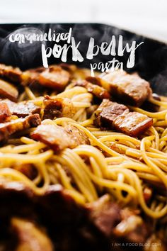 vietnamese caramelized pork belly pasta recipe - www.iamafoodblog.com