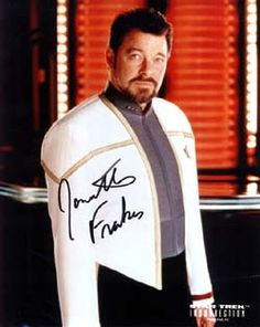 Jonathan Frakes as Will Riker autographed photo.